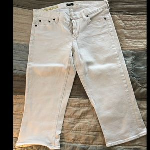 J. Crew white matchstick capri jeans